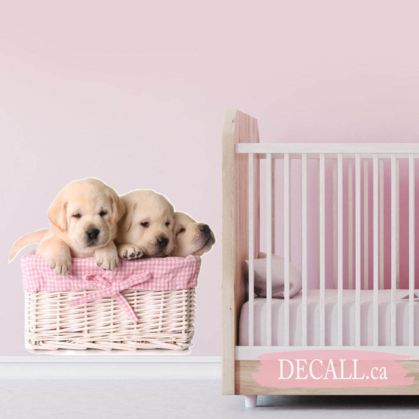 Lab Puppies Animal Wall Sticker DWS1196