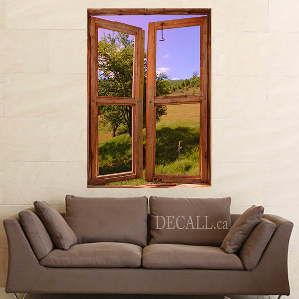 Landscape Seen through Window Scene Wall Mural DWM1041