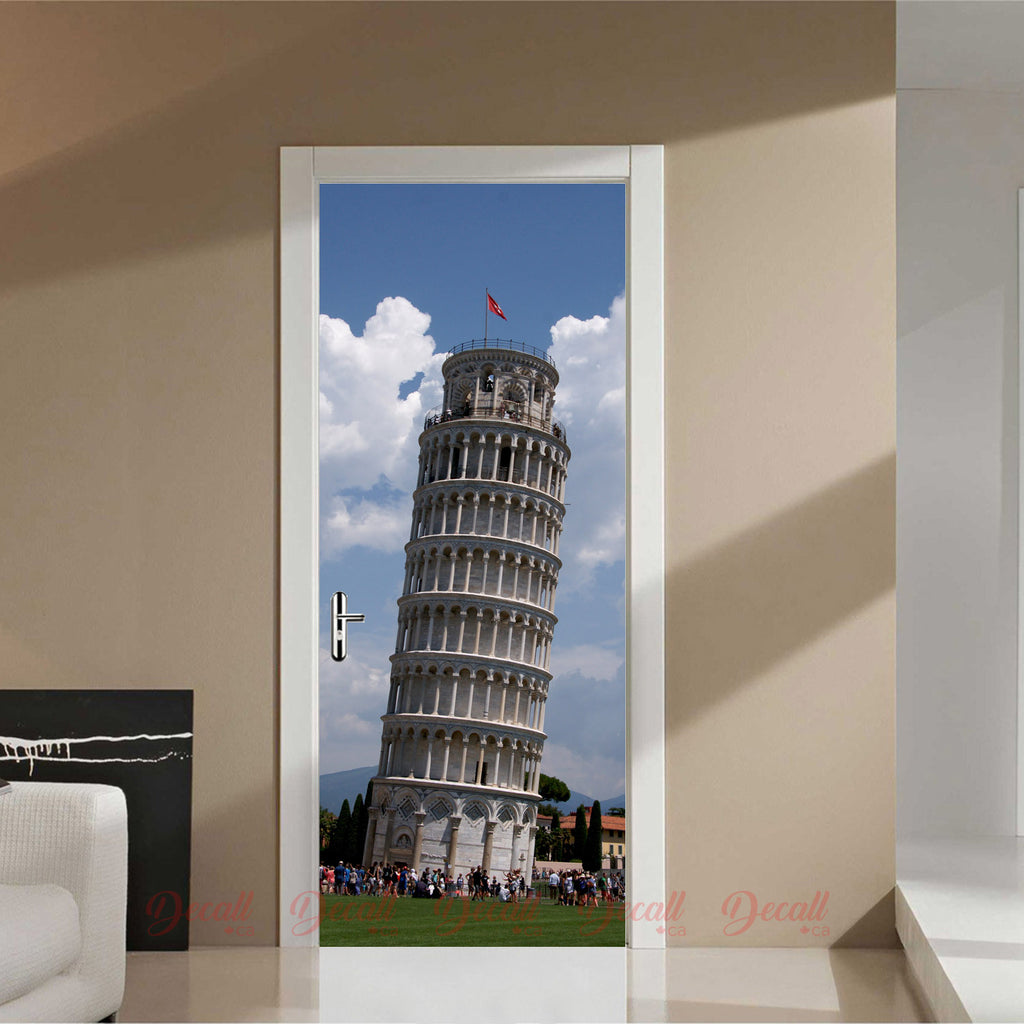 Leaning Tower of Pisa Door Mural - Door-Murals - Decall.ca