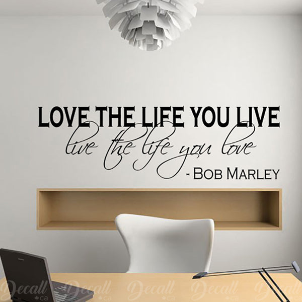 Live The Life You Love - Wall Lettering - Inspiration - Wall-Decals - Decall.ca