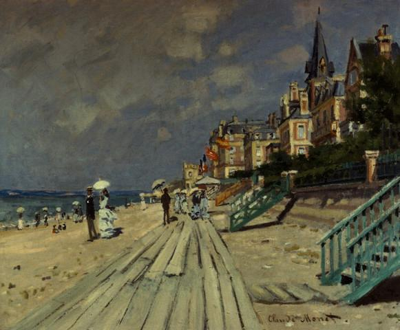 Beach Trouville Claude Monet Fine Art Wall Mural