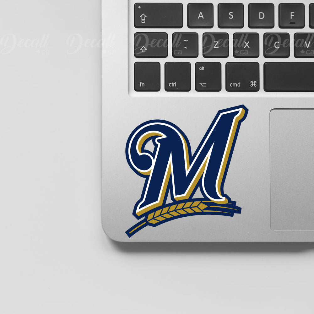Baseball Team Milwaukee Brewers Logo Sport Stickers - Stickers - Decall.ca
