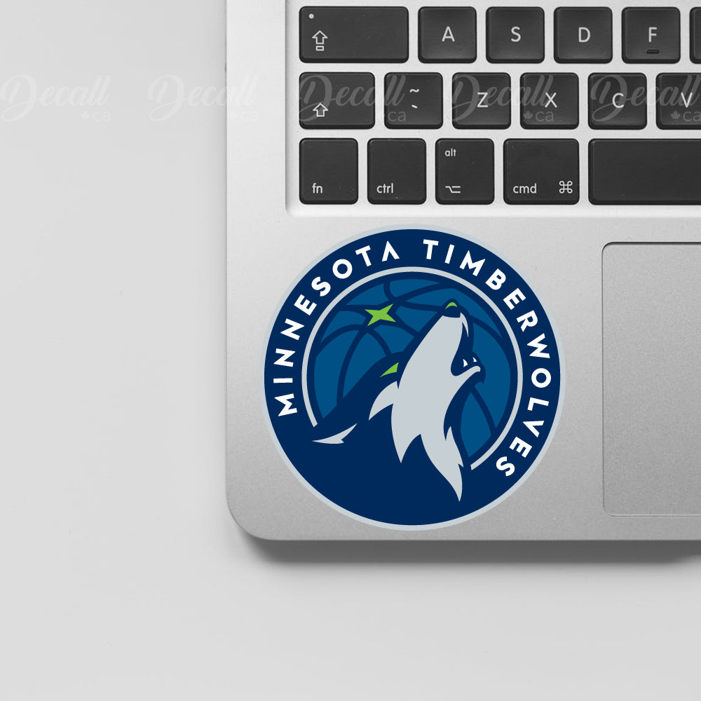 Basketball Team Minnesota Timberwolves Logo Sport Stickers - Stickers - Decall.ca