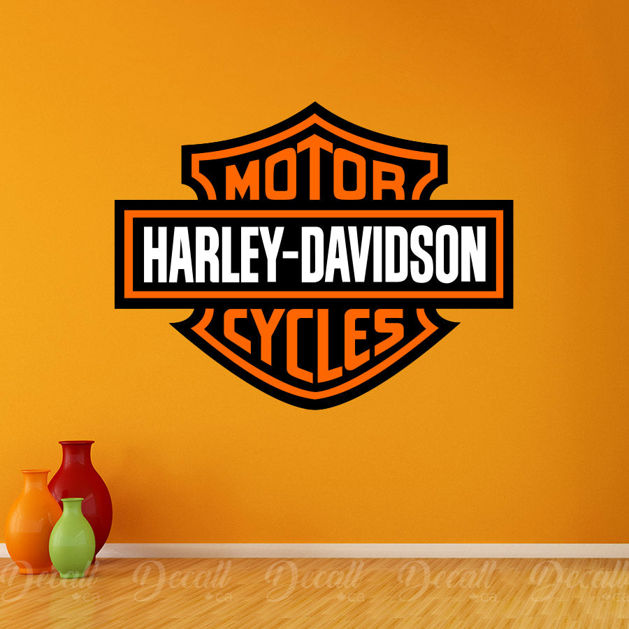 Motor Cycles Harley Davidson Logo Wall Sticker - Wall-Stickers - Decall.ca