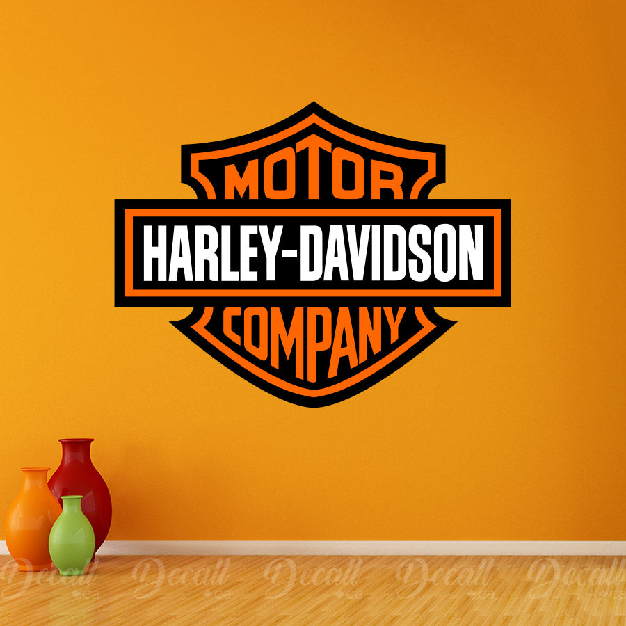Motorcycles Harley Davidson Company Logo Wall Sticker - Wall-Stickers - Decall.ca