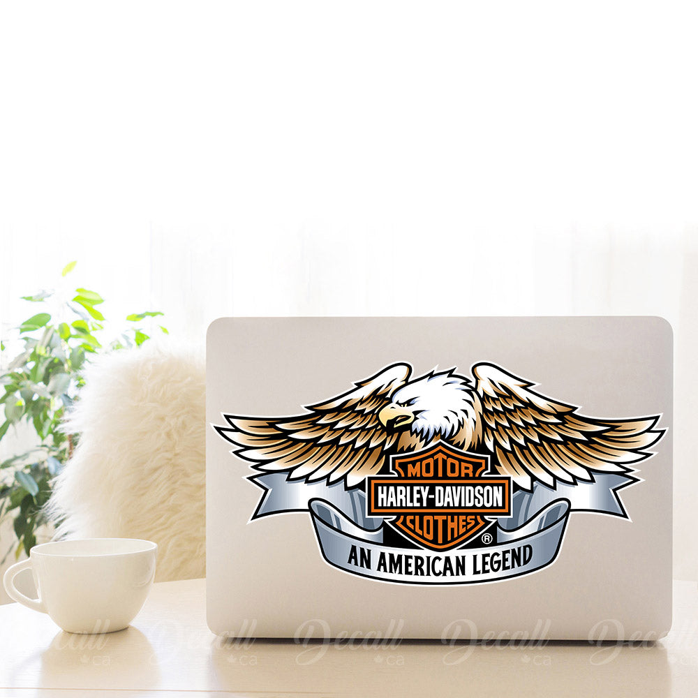 Motorcycles Harley Davidson Logo With Eagle Sticker - Stickers - Decall.ca