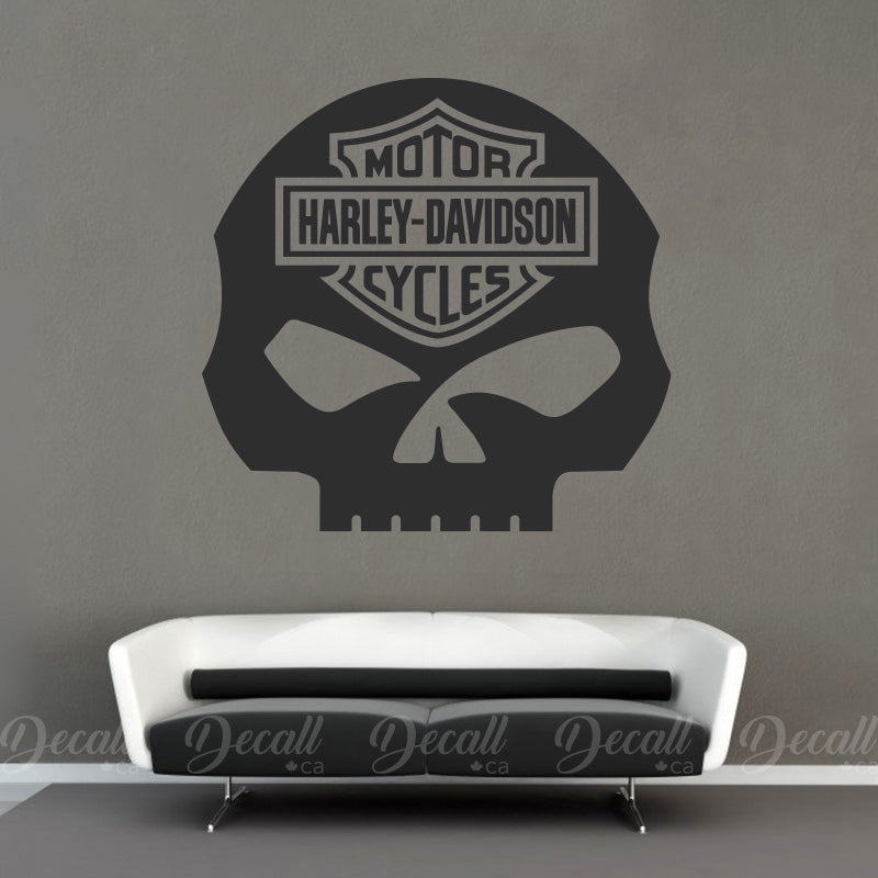 Motorcycles Harley Davidson Skull Logo Wall Decor - Wall-Decals - Decall.ca