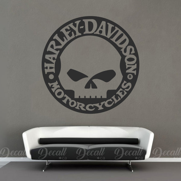Motorcycles Harley Davidson Skull Logo Wall Decal - Wall-Decals - Decall.ca