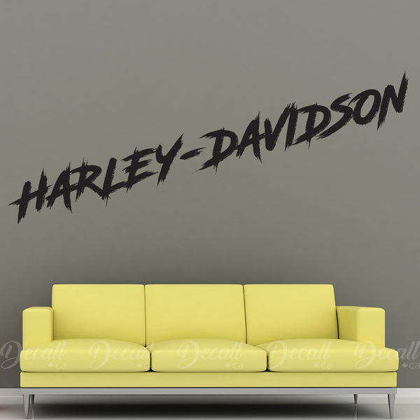 Motorcycles Harley Davidson Wall Lettering - Wall-Decals - Decall.ca