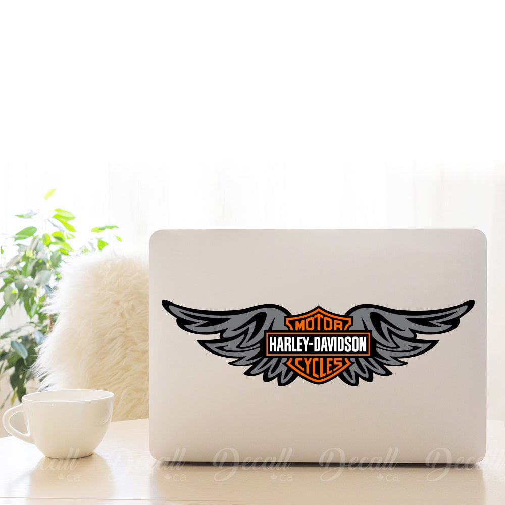 Motorcycles Harley Davidson Wings Logo Sticker - Stickers - Decall.ca