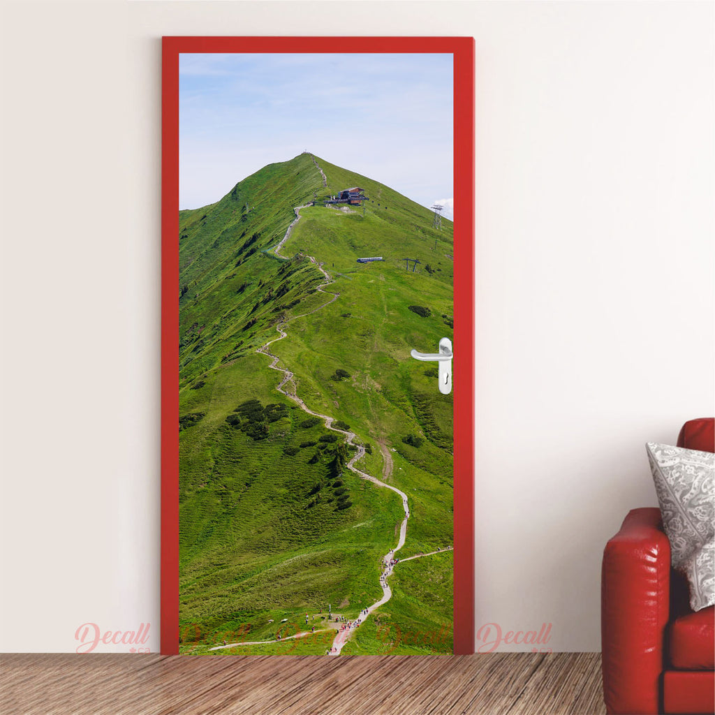 Mountain Hiking Trail Door Mural - Door-Murals - Decall.ca