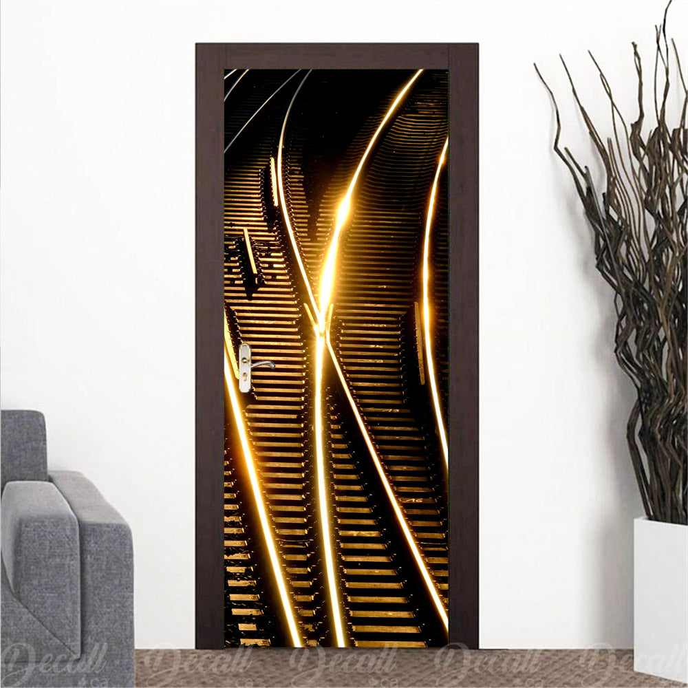 Night Railroad Door Mural - Door-Murals - Decall.ca