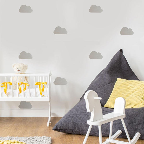 Nursery Clouds Wall Pattern Vinyl Wall Decals - Wall-Decals - Decall.ca
