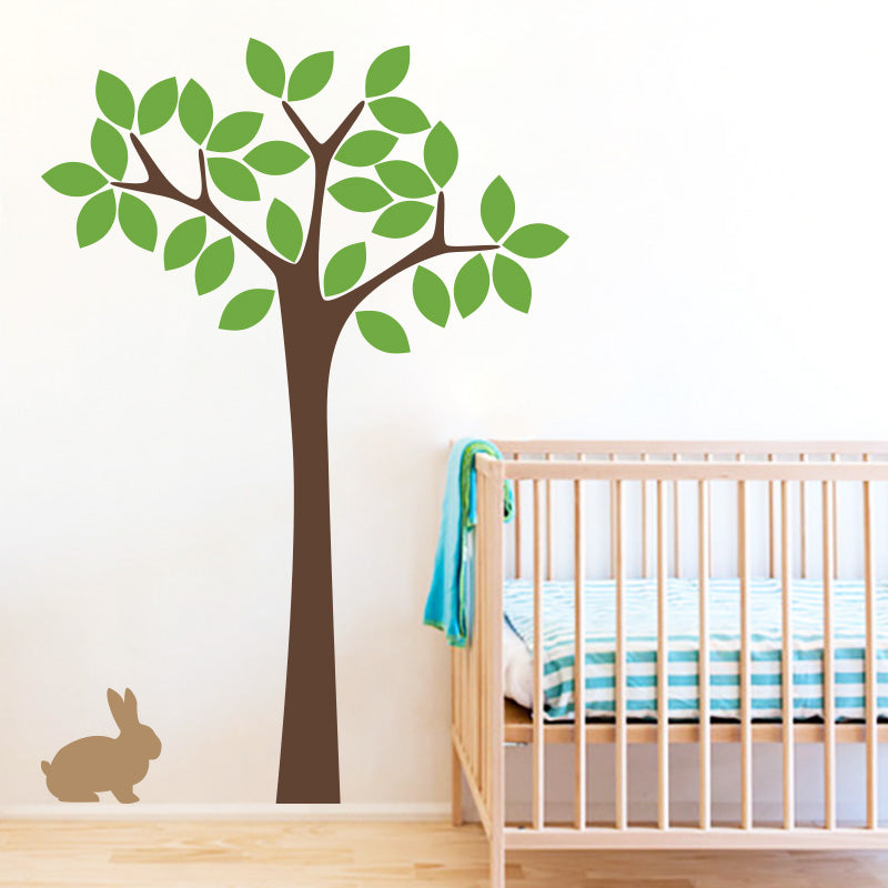 nursery tree with bunny - wall decals stickers – decall.ca