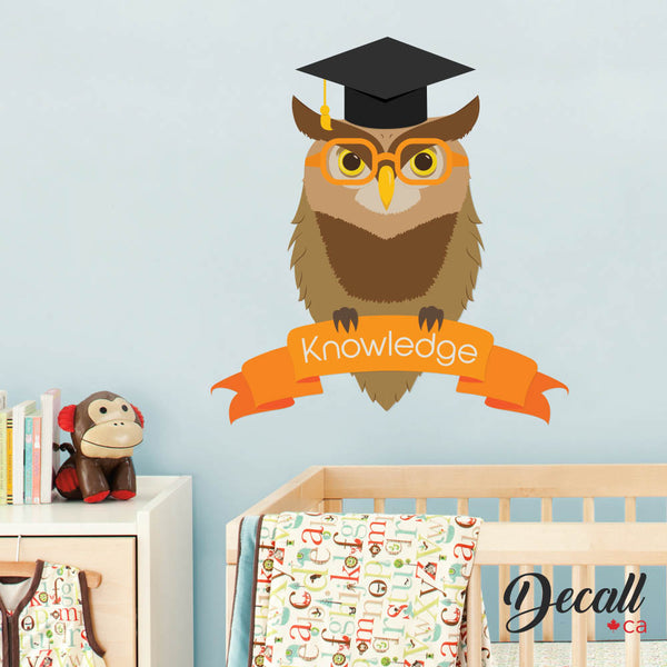 Oxford University Owl Animal Wall Sticker