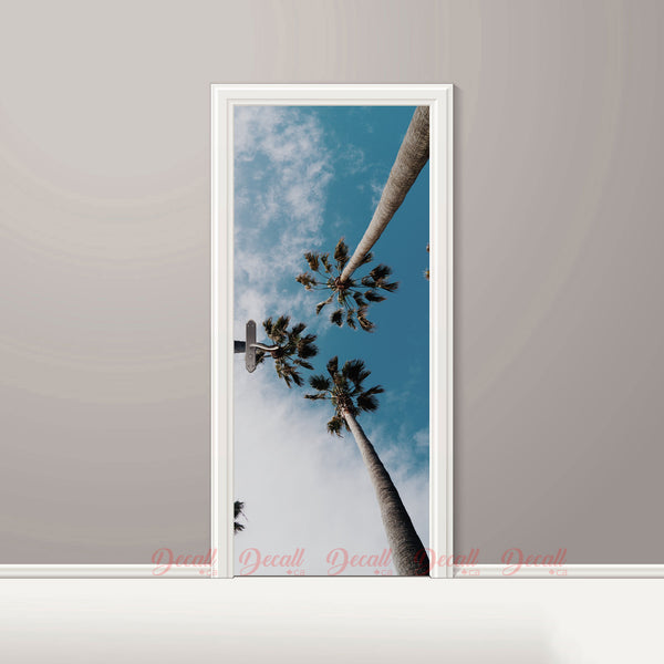 Palm Tree Door Mural - Door-Murals - Decall.ca