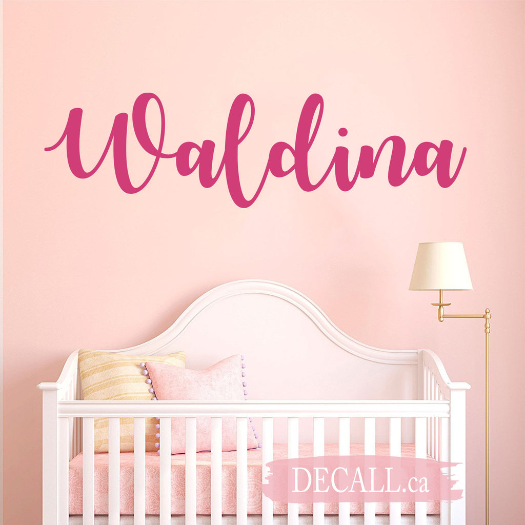 Personalized Name Wall Decal Monogram Wall Decal D123