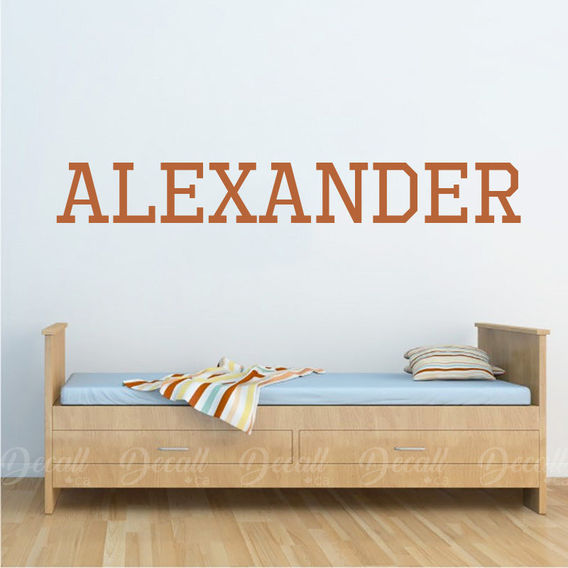 Personalized Boy Name Custom Monogram Wall Decals - Wall-Decals - Decall.ca
