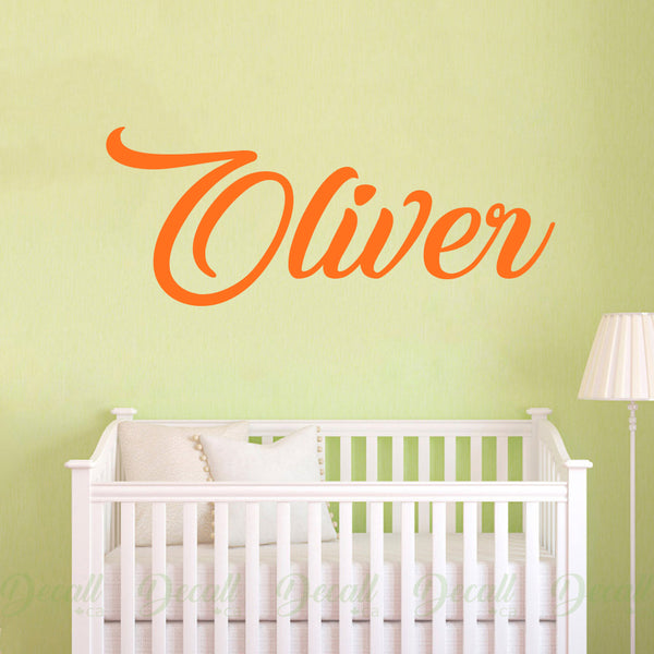 Personalized Custom Name Monogram Vinyl Wall Decal - Wall-Decals - Decall.ca