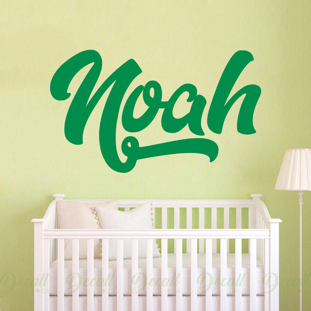Personalized Custom Name Monogram Wall Decal - Wall-Decals - Decall.ca