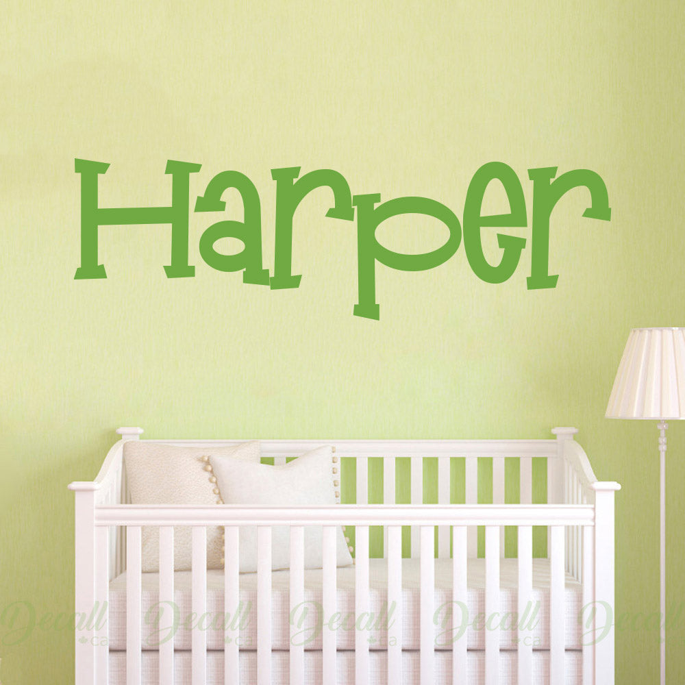 Personalized Custom Name Vinyl Wall Decal - Wall-Decals - Decall.ca