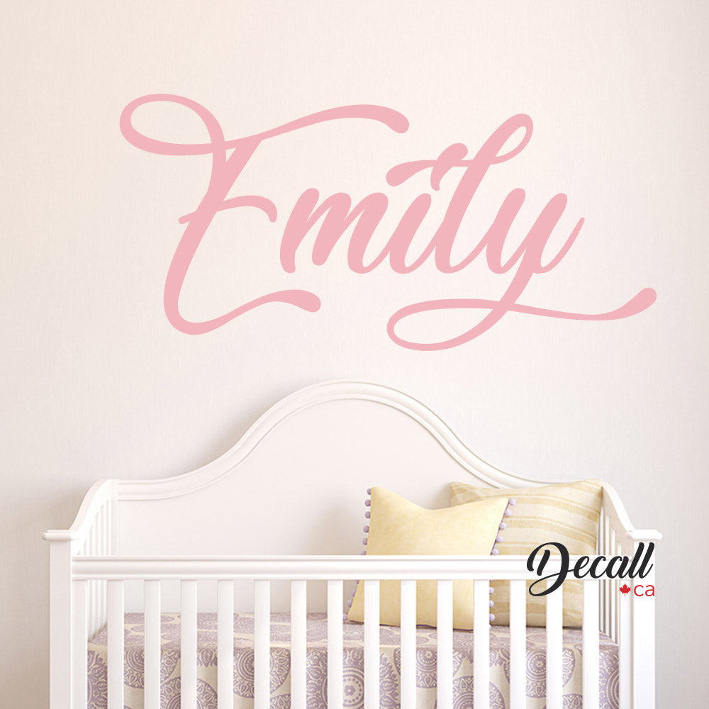 Personalized Girl Name Monogram - Vinyl Wall Name - Wall-Decals - Decall.ca