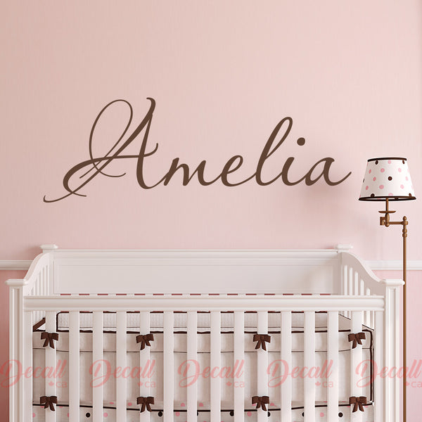 Personalized Girl Name Wall Decal Name Monogram - Wall-Decals - Decall.ca