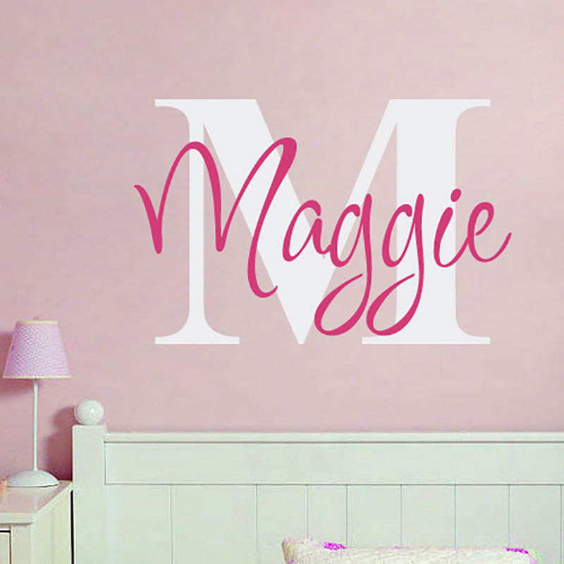 Personalized Name Customize Nursery Name Vinyl Lettering Decal