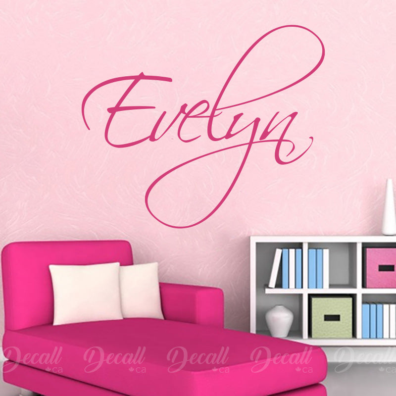 Personalized Name Custom Monogram Vinyl Wall Decal - Wall-Decals - Decall.ca
