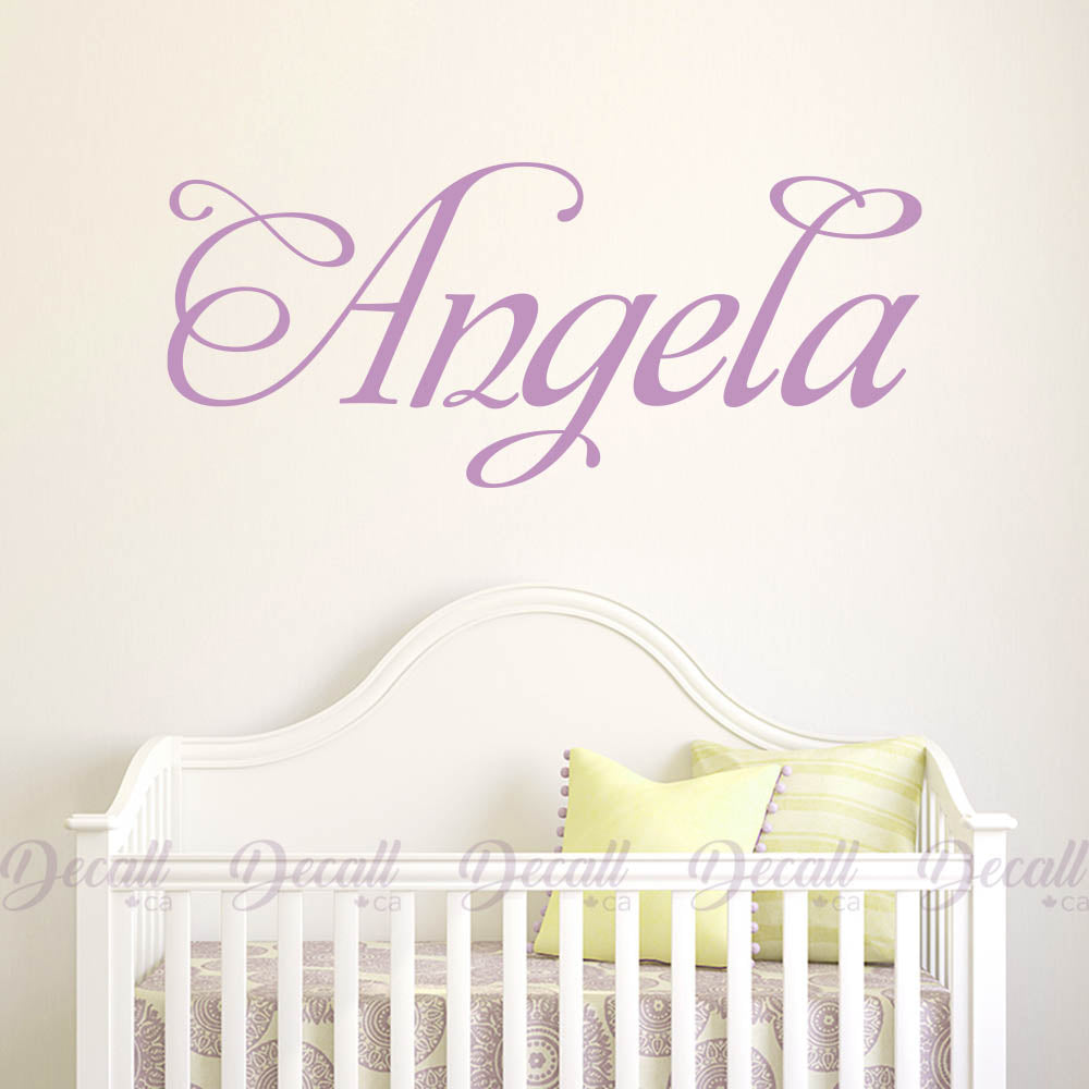 Personalized Name Monogram Wall Decal A072