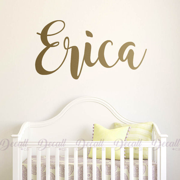 Personalized Girl Name Wall Decal Name Monogram Decal D011
