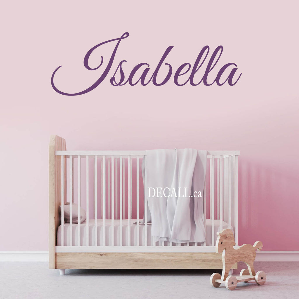 Personalized Name Wall Decal Girl Name Decal Monogram D114