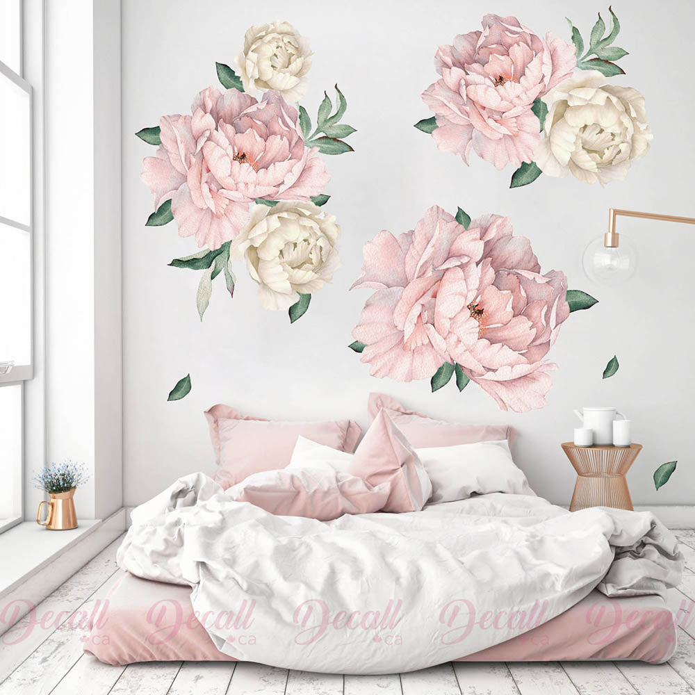 Peony Flower Wall Decals Canada Peel Amp Stick Floral Wall