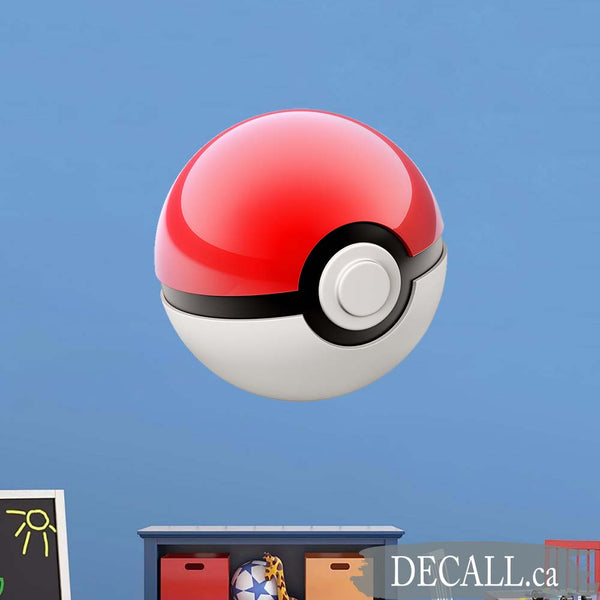 Pokemon Ball Poke Ball Wall Decals - Poke Ball Wall Stickers - DWS1184