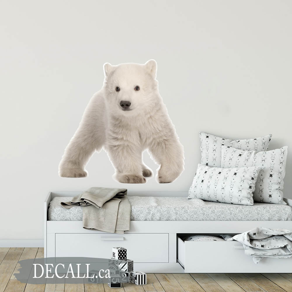Polar Bear Cub Ursus Animal Wall Sticker DWS1224