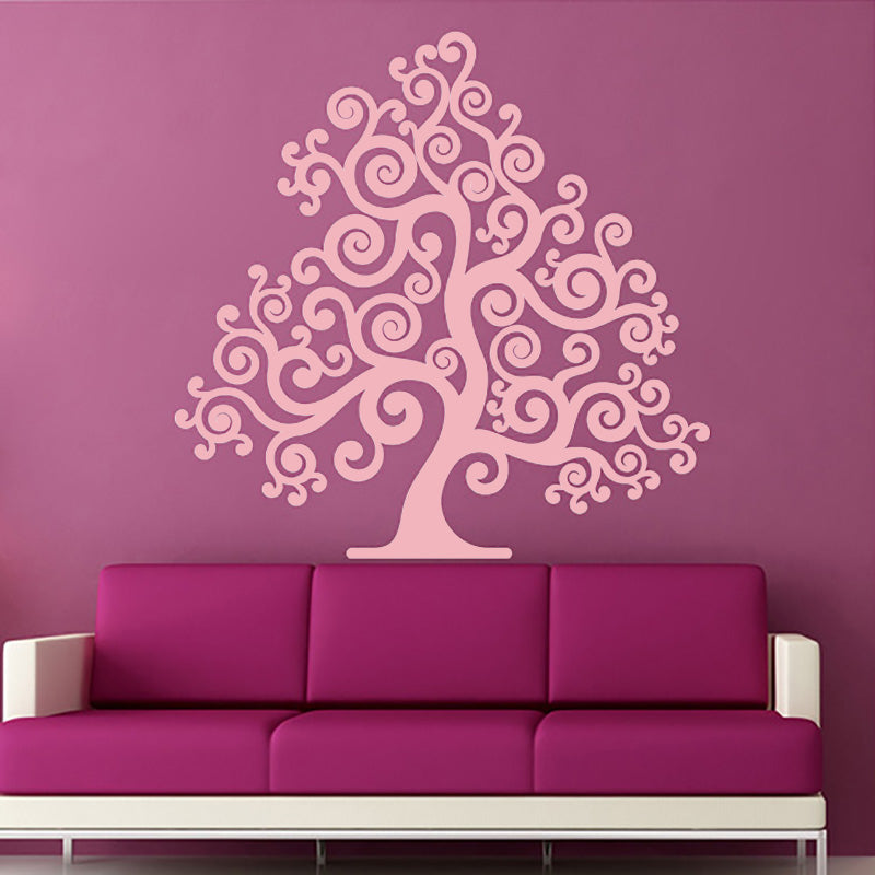 Pretty Swirly Tree - Wall Decals Stickers - Wall-Decals - Decall.ca