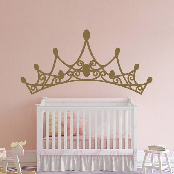 Princess Tiara Headboard Wall Art - Wall-Decals - Decall.ca