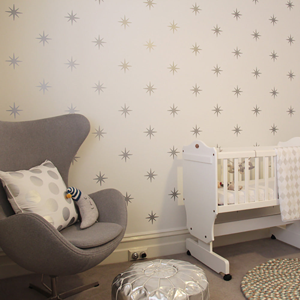 Removable Coronata Star Wall Decals - Wall-Decals - Decall.ca