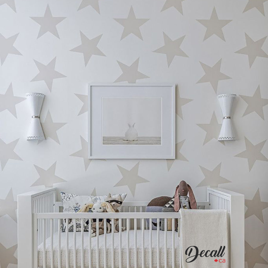 Removable Star Wall Decals - Star Wall Decor - Wall-Decals - Decall.ca