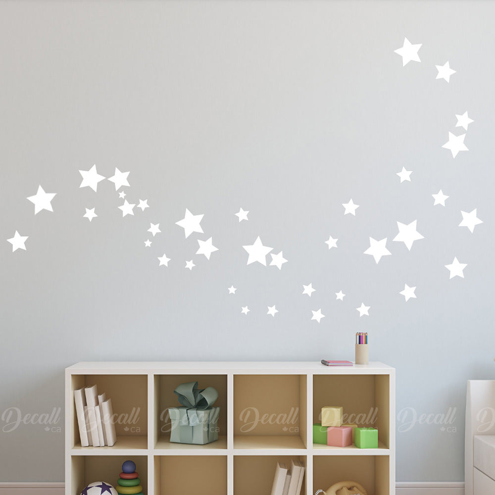 Removable Star Wall Stickers - Wall-Decals - Decall.ca