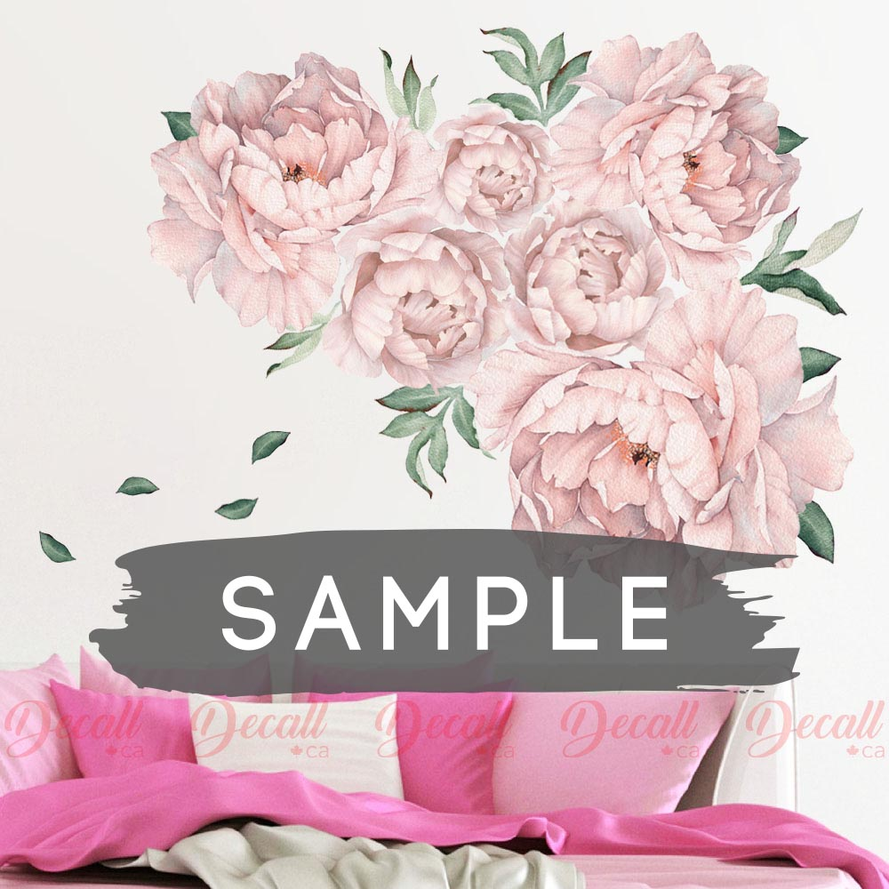 SAMPLE of Pink Peony Flower Wall Sticker - DWS1052 - Wall-Stickers - Decall.ca