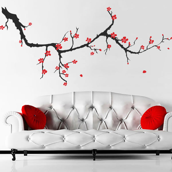 Spring Cherry Blossom Branch - Wall Decals Stickers - Wall-Decals - Decall.ca