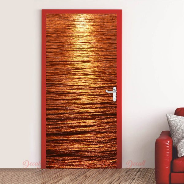 Streak Light Sunset Door Mural - Door-Murals - Decall.ca