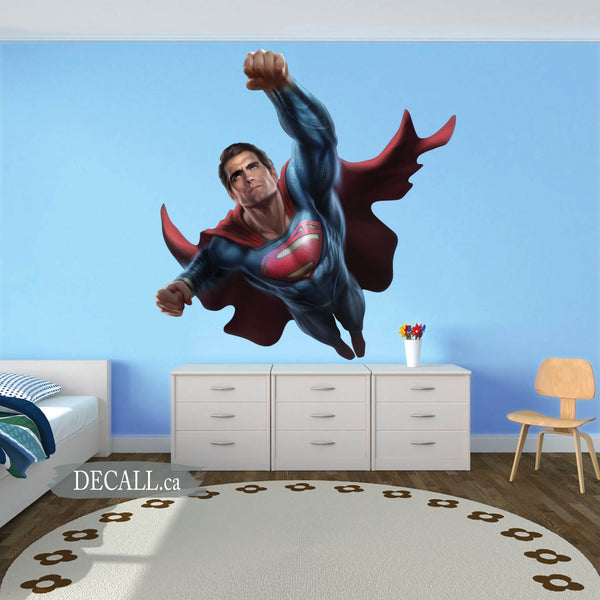 Superman Superhero Boy Bedroom Wall Sticker DWS1189