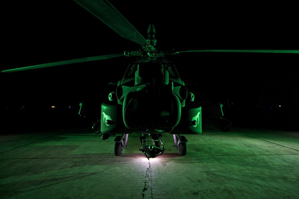 Ah-64d Apache Helicopter Night Military Wall Mural