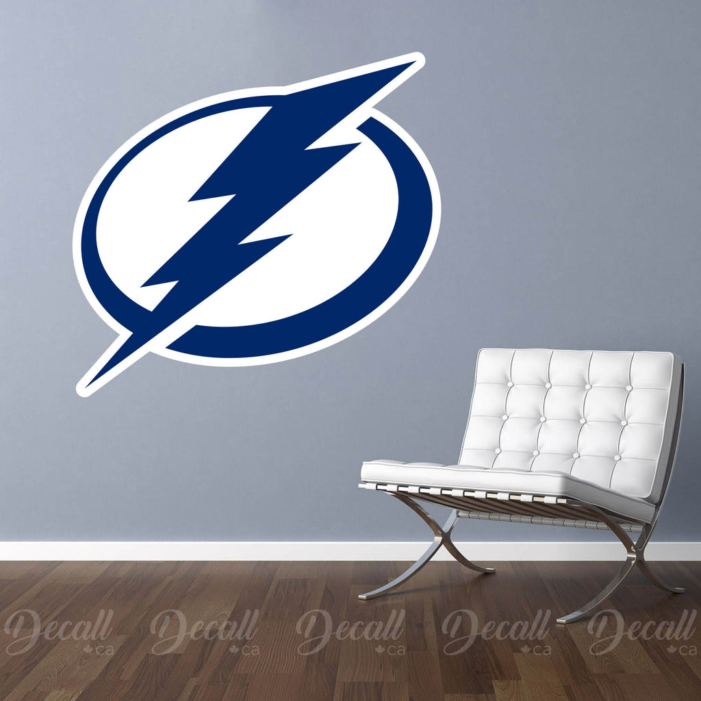 Ice Hockey Team Tampa Bay Lightning Logo Wall Sticker - Wall-Stickers - Decall.ca