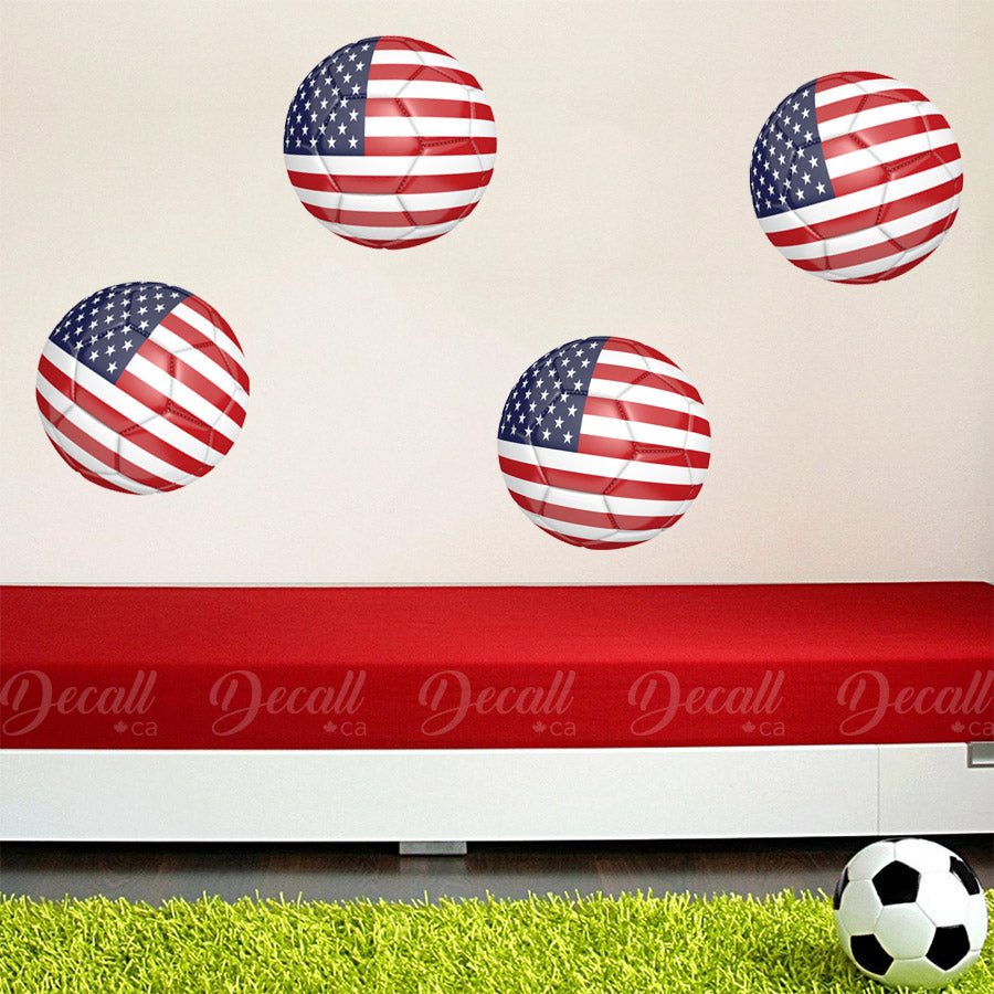 Team United States 3D Soccer Ball Wall Stickers - Wall-Stickers - Decall.ca