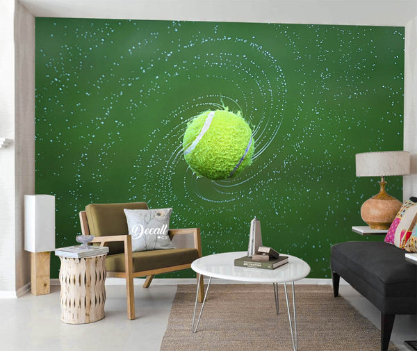 Tennis Ball Spinning Sports Wall Mural