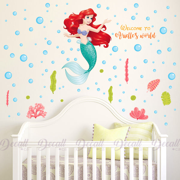 The Little Mermaid Ariel Disney Princess - Welcome to Your World - Wall-Stickers - Decall.ca