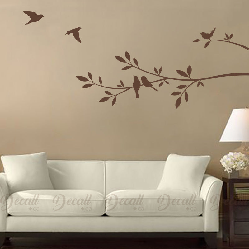 tree branch and birds - vinyl decal – decall.ca